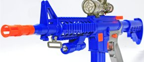 KiiToys® Combat Toy Gun M4 M16 Foam Dart and Water Pellet Blaster Blue